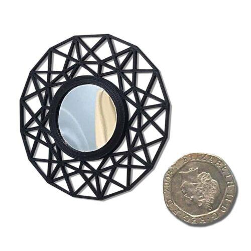 Casa De Muñecas Escala 1//12 Art Deco triangular web Espejo amorosamente hecha por Galago