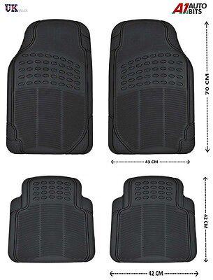 BLACK RUBBER GRIP CAR MAT MATS SET FOR ALFA 145 147 156 159 166 GT GTV