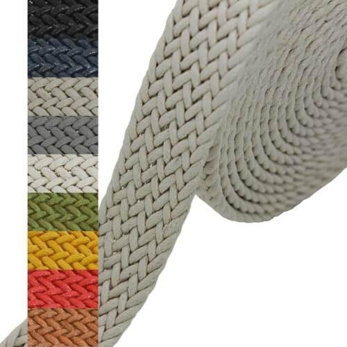5m Gurtband geflochten Gurte Gurtbänder Kurzwaren Taschengurt Variantenwahl
