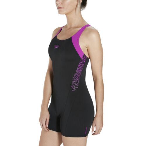 SPEEDO WOMENS LEGSUIT SWIMSUIT.BOOM SPLICE LEG SUIT SWIMMING SWIM COSTUME 9W 715
