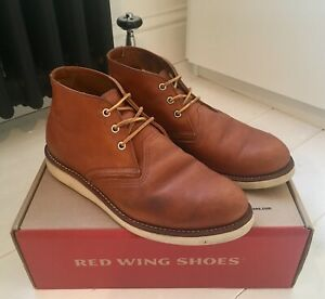 005f5e3f6ef Details about Red Wing Original 3140 Work Chukka Boots 43 9 Shoes Redwing