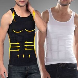 Men's Slimming Vest Top Slim Shirt Chest Belly Control Body Shapers S-XXLFR