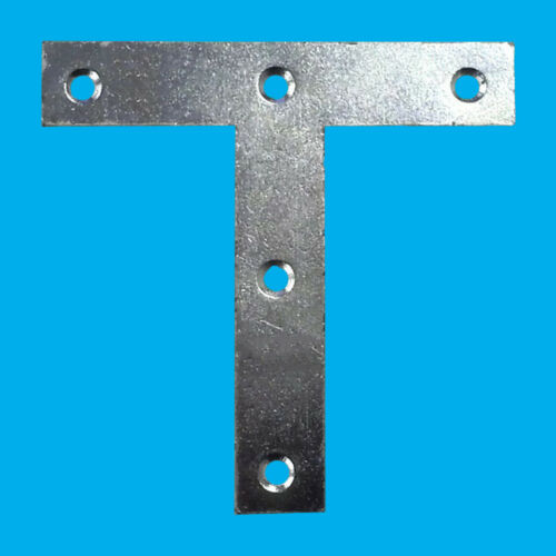 """Tee Plates T Mending Bracket Brace Attach Support Fixing Joining 12x 100mm 4/"""""""