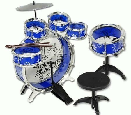 NEW 11pc Kids Boy Girl Drum Set Musical Instrument Toy Playset blueE