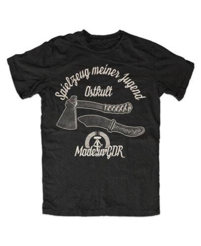 Jouets de ma jeunesse ostkult T-shirt noir, RDA, Ossi, patrimoine mondial, FDJ