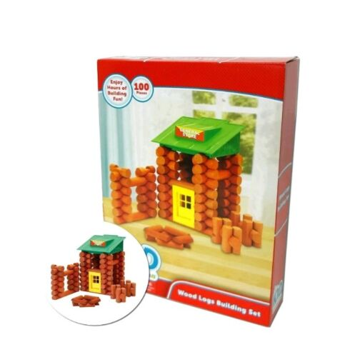 NEW OTHER Kid Connection Wood Logs Building Set 100 Piece Age 3+