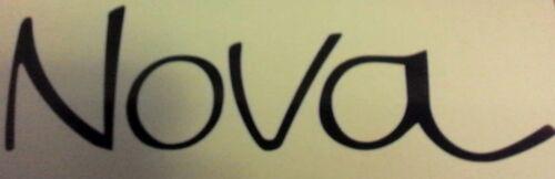 """NOVA Emblem Script Vinyl Decal Sticker 6/"""" Wide x 1.8/"""" Tall Many Colors Chevrolet"""