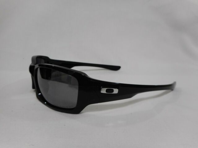 6002e89dfbefa Authentic Oakley Fives Squared Black Iridium Polarized Sunglasses ...