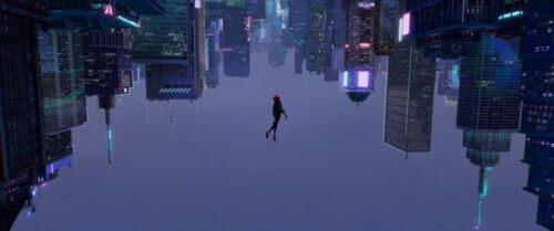 """Action 2018 USA Animation 33/""""x14/"""" Poster 030 Spider Man Into The Spider Verse"""