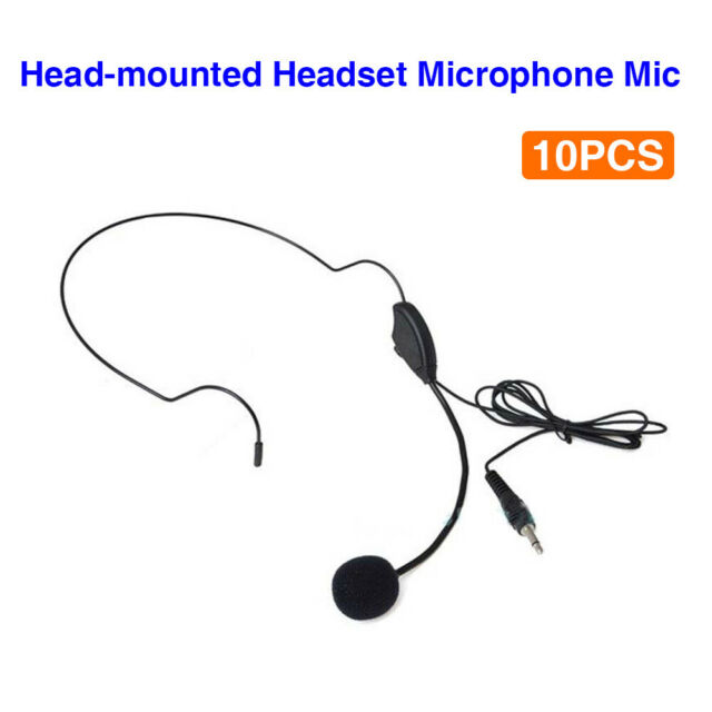 10 Pack Head-mounted Microphone Headset for AKER Speaker Booster Voice Amplifier