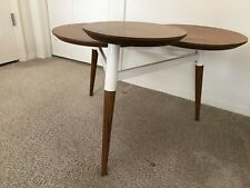 West Elm Portside Coffee Table Weathered Gray EBay - West elm clover coffee table