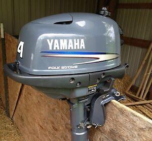 2002 yamaha four stroke 4hp 4 horse kicker outboard boat