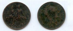 gertbrolen-5-Centimes-bronze-Type-Dupuis-1905-Annee-rare