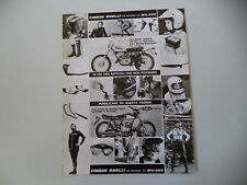 advertising Pubblicità 1974 CINQUE ANELLI e AMF HARLEY DAVIDSON 125 /175 SX