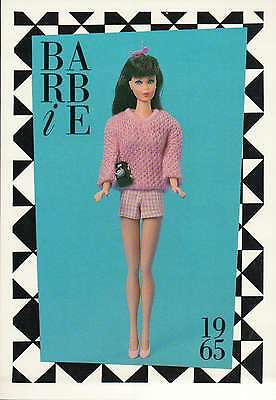 "Barbie Collectible Fashion Trading Card  /"" Fraternity Dance /""  White Gloves 1965"