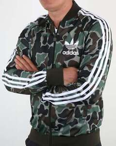 ADIDAS-Originals-Adidas-superstar-Camo-Track-Top-3-Stripe-tuta-da-ginnastica-vendita