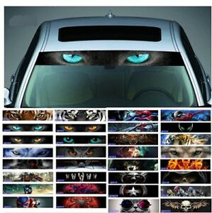 D Transparent Car Front Windshield Windscreen Window Decal Vinyl - Front window stickers for car