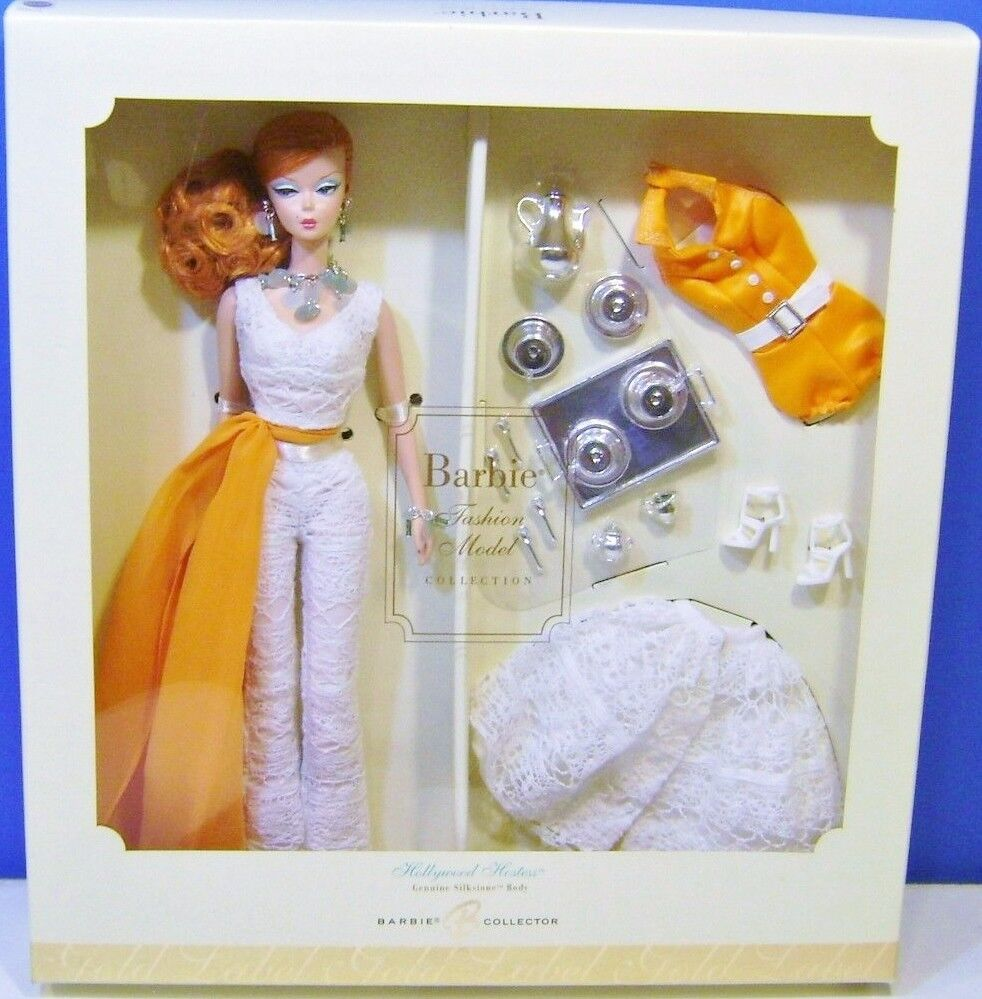 2007 Silkstone Barbie hollywood hostess estuche de regalo mattel  k7900 MIB NRFB
