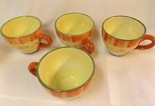 Pfaltzgraff  Napoli  Coffee Cups Large Oversized / Hand Painted / Set of 4 / GC