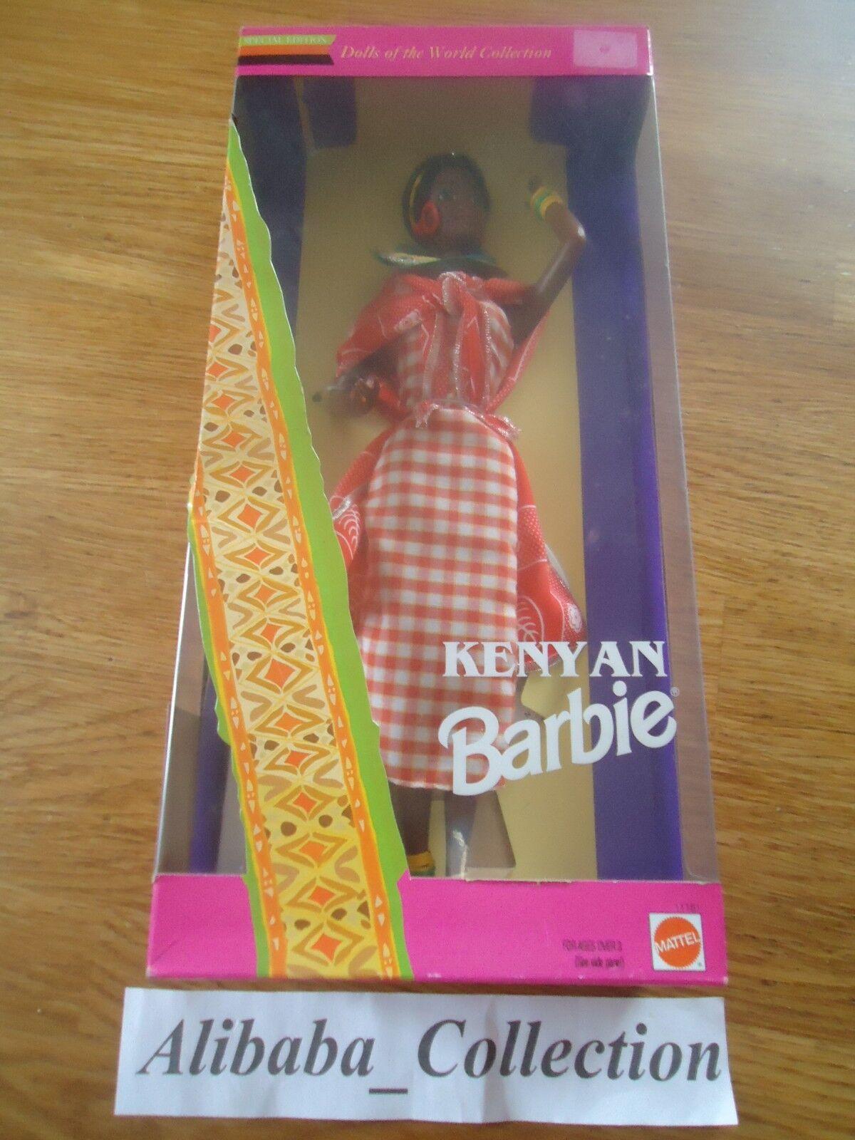 BARBIE KENYAN 11181   MATTEL 1993 DOLL WORLD BOITE POUPEE MONDE KENYA