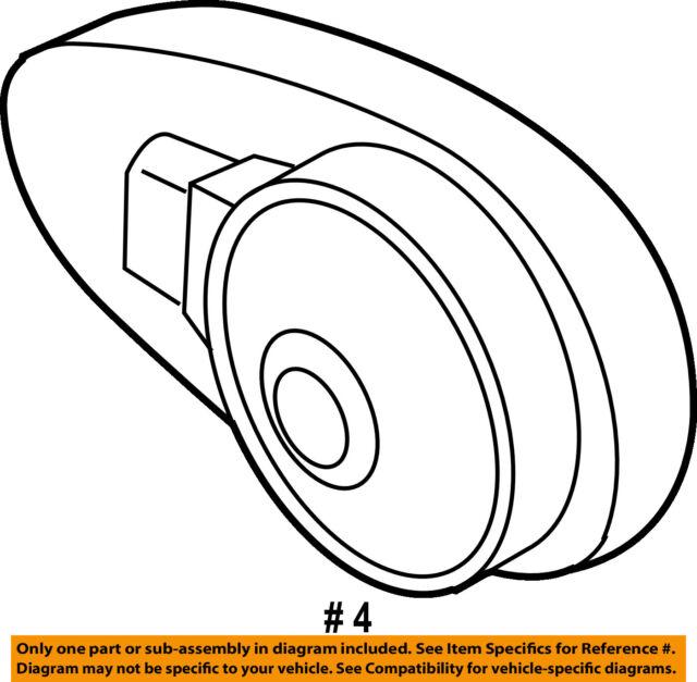 Porsche Oem 03 06 Cayenne Anti Theft Alarm System Siren 95561823701