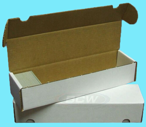 25 BCW 800 COUNT CARDBOARD CARD STORAGE BOXES Trading Sports Case Football MTG