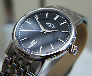rotary mens watch mineral glass rrp £170 s steel wr 50m genuine image is loading rotary mens watch mineral glass rrp 170 s