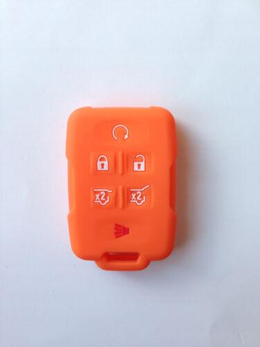 Orange Fob Remote Key Cover For 2015 2016 Chevrolet Suburban Tahoe M3N-32337100