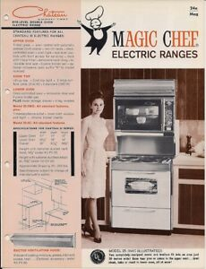Details about 1965 MAGIC CHEF Gas Electric Range Oven KITCHEN APPLIANCES  Catalog PYREX ROOSTER