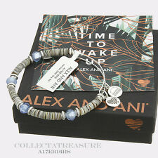 Authentic Alex and Ani Horizon Sky Rafaelian Silver Bangle Wrap