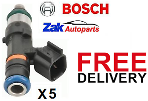 Set of 5 Ford-Focus 2.5T RS ST225 Genuine Bosch-550cc-Fuel Injectors