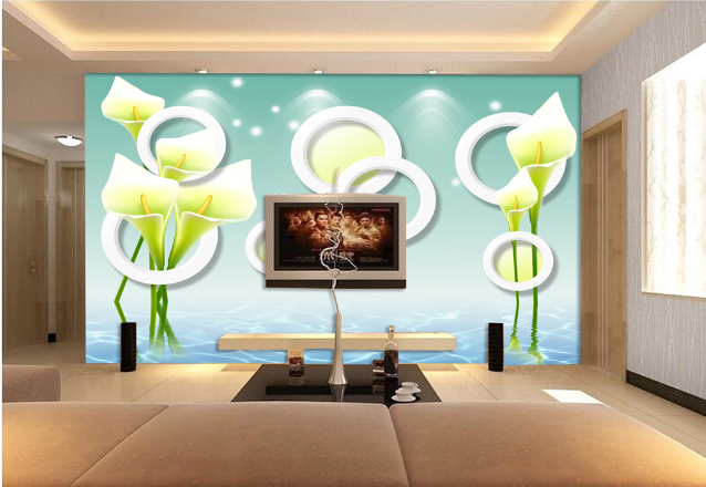3D Weiß Petal 4068 Wallpaper Murals Wall Print Wallpaper Mural AJ WALL UK Lemon