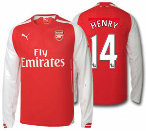 Image is loading PUMA-THIERRY-HENRY-ARSENAL-HOME-LONG-SLEEVE-JERSEY- dd9854734