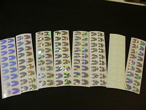 36 #4 Colorado Blade 3/4 Die Cut in 8 Designs of Fishing Lure Tape