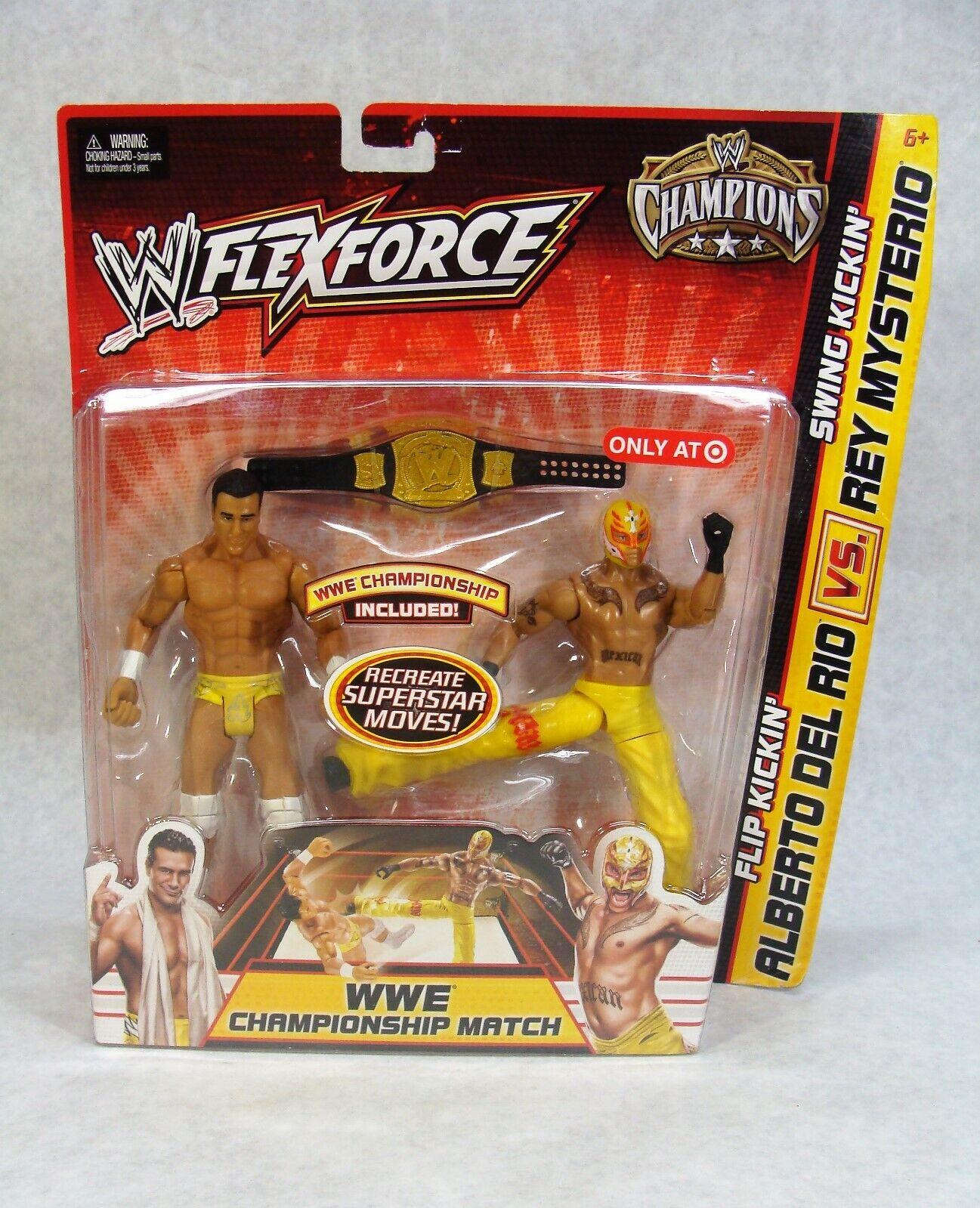 WWE FLEXFORCE CHAMPIONS ALBERTO DEL RIO VS REY MYSTERIO 2 cifra PACK TARGET EXC