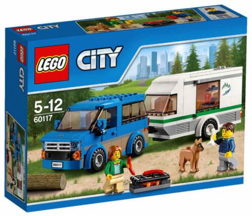 NEU LEGO® CITY 60117 City Van /& Wohnwagen NEU /& OVP Hund Camper Camperin