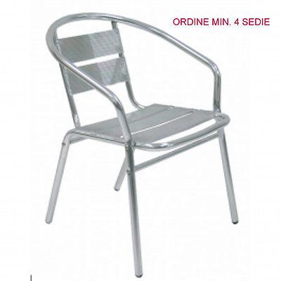 Sedie In Alluminio Per Bar Usate.Sedia Poltrona Alluminio Da Esterno Giardino Bar Ristorante Albergo Hotel Capri Ebay