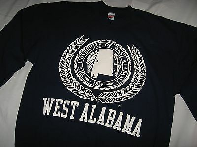 West Alabama Sweatshirt - Vintage 1990's Livingston University School Shirt Lrg