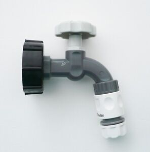 IBC-Adapter-S60X6-to-Polypropylene-Bib-Tap-amp-Snap-On-Hose-Fittings