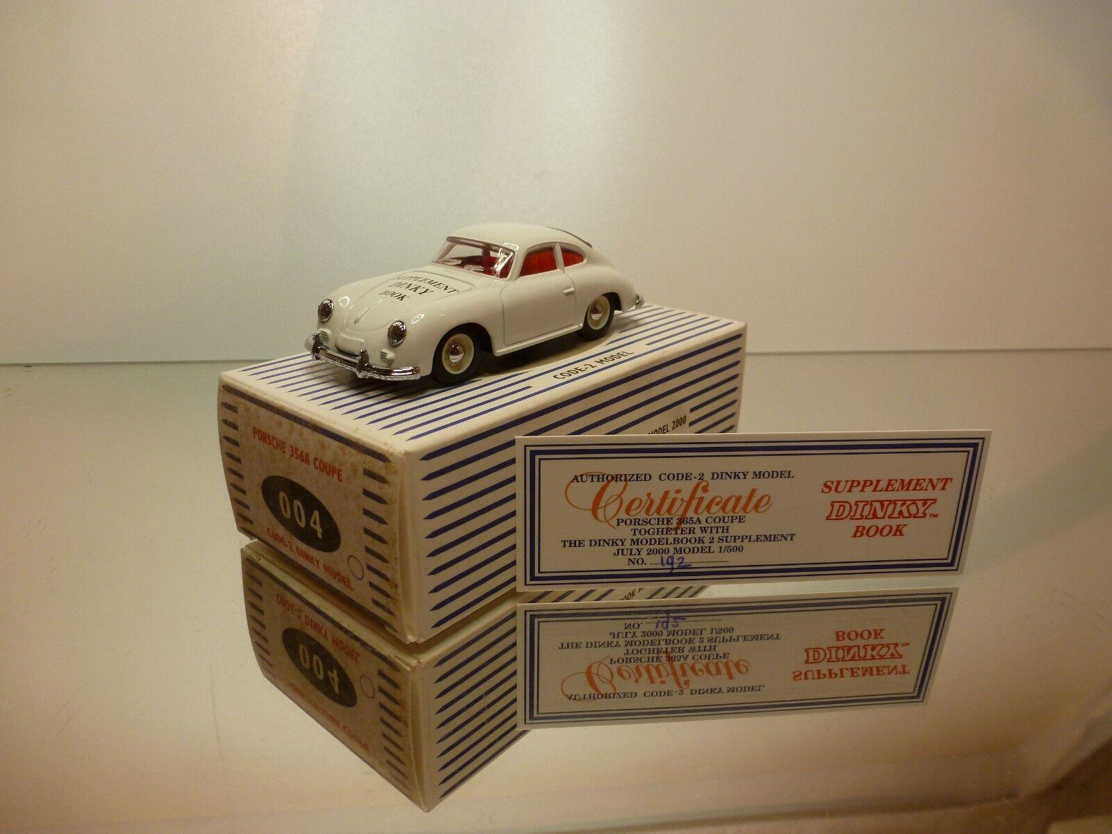 DINKY TOYS 004 PORSCHE 356A COUPE 1958 - WHITE WHITE WHITE 1 43 RARE - VERY GOOD IN BOX 4bc4a4