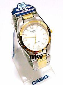 Casio-Fashion-Dress-Men-039-s-Two-Tone-Analog-Watch-MTP1253SG-MTP-1253SG-7A-FreeShip