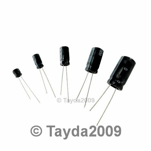 10 x 100uF 50V 105C Radial Electrolytic Capacitor 8x11