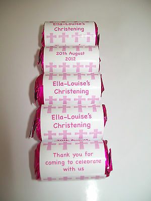 Personalised Love Heart Sweets x 50 .. ideal for Christenings, weddings, parties