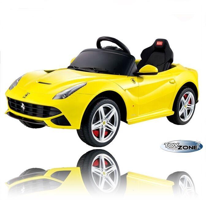 Kinderfahrzeug Kinder Elektro Auto E-Motor Ferrari F12 Berlinetta RC Steuerung