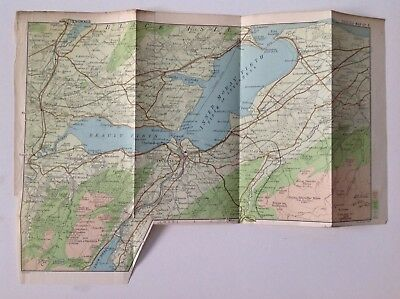 Scotland Search For Flights Inverness District Bartholomew Original Atlas Selected Material 1901 Antique Map