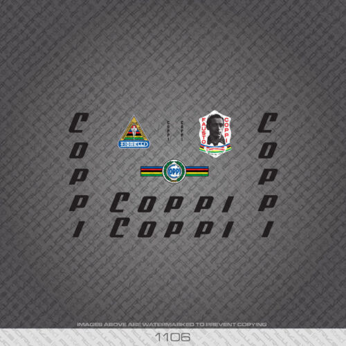 Black Transfers 01106 Fausto Coppi Bicycle Stickers Decals