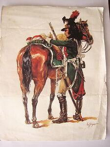 Dessin-gravure-reproduction-Fregier-Regiment-de-dragons-dessin