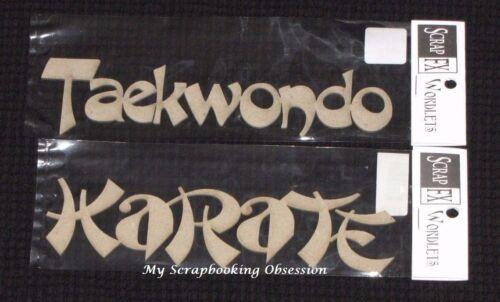 SCRAP FX Chipboard /'MARTIAL ARTS/' Embellishments Choose from 2 design Karate
