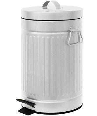 Kitchen Trash Can White Retro Step-Bin 12-L | eBay