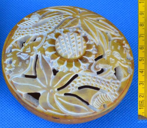 schöne Deckeldose aus Speckstein Dose viele Varianten Eule Blatt Herz Schlange